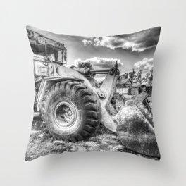 Bulldozer Machine from Earth Throw Pillow