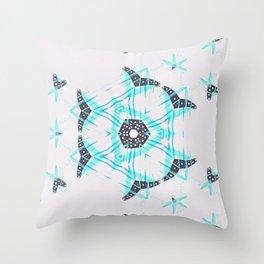 Blue Heart Dance Throw Pillow