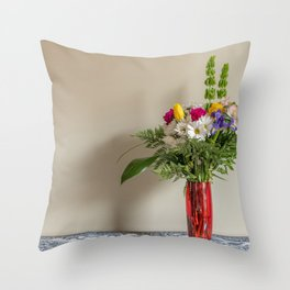 Anniversary Flowers Throw Pillow