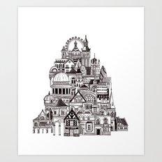 London pencil lines Art Print