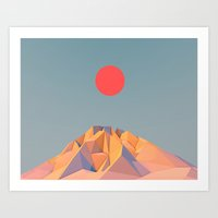 Sun on Mountain Art Print
