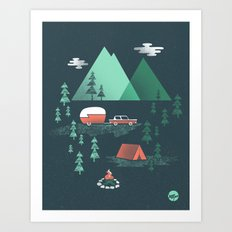 Pitch a Tent Art Print