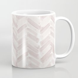Neutral Blush Chevron Coffee Mug