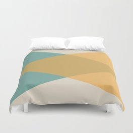 Mid Century - Yellow and Blue Duvet Cover
