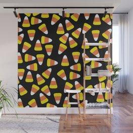 Candy Corn Jumble (black background) Wall Mural