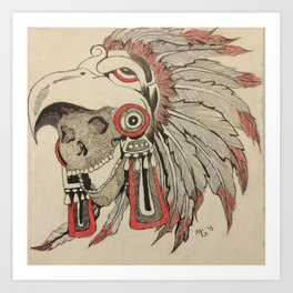 Skull of an Indian Chief Art Print