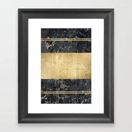 marble in gOld Framed Art Print