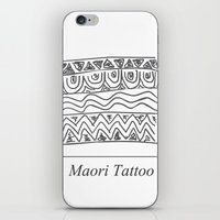 maori iPhone & iPod Skins featuring Maori Tattoo by Harvey Depp