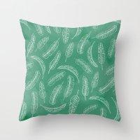 banana leaf Throw Pillows featuring Banana Leaf by Make-Ready