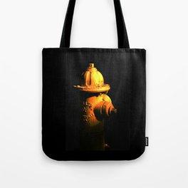 Fire Hydrant Orange and Black Art - Hot - Sharon Cummings Tote Bag