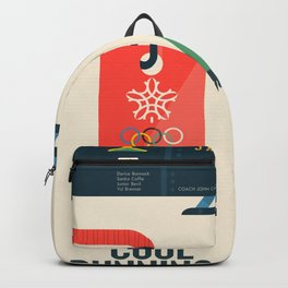 Cool runnings, Jamaica bobsled team movie, olympic games poster, Calgary 1988, Winter Olympics, John Candy Backpack
