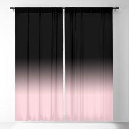 Modern abstract elegant black blush pink gradient pattern Blackout Curtain