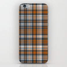 Texas longhorns plaid college UT university sports football fan team alumni iPhone & iPod Skin