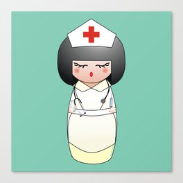 Kokeshi Nurse Canvas Print