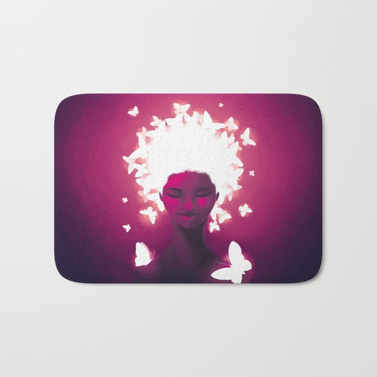 Luminescent Fuchsia Bath Mat