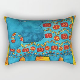 Patterned Elephant Rectangular Pillow