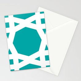 Arabic geometric pattern in Turquoise Stationery Cards