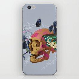 Gold Skull Butterfly Flower Black Jungle iPhone Skin