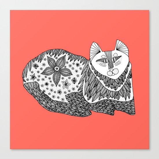 peach cat Canvas Print