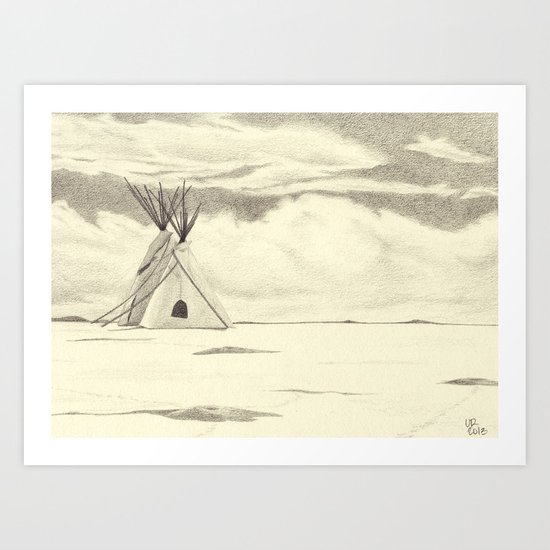 Lonely Plain Art Print
