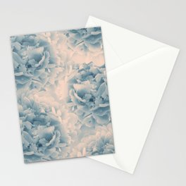 Blush Blue Peonies Dream #1 #floral #decor #art #society6 Stationery Cards