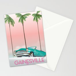 Gainesville Florida retro travel poster. Stationery Cards