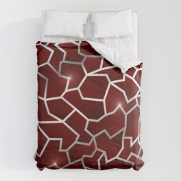 Red Origin - Red Silver Crag Pattern Comforters