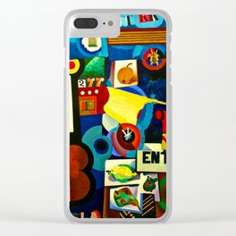 Entrada by Amadeo de Souza Cardoso - Portuguese Colorful Expressionism Clear iPhone Case