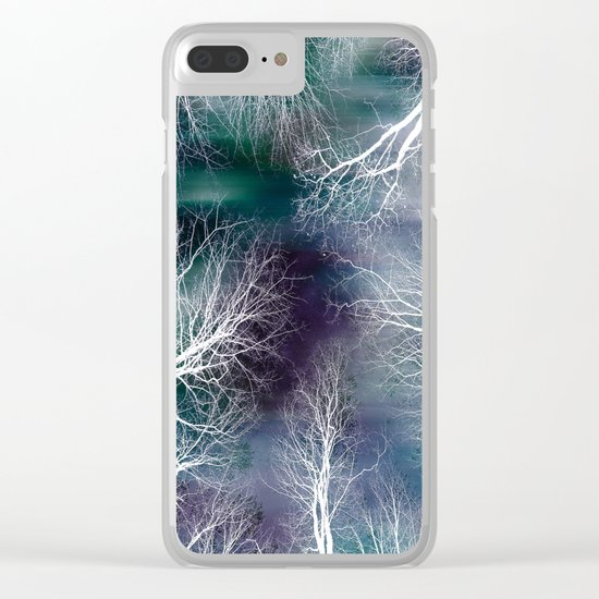 Midnight Purple Teal Clear iPhone Case