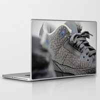air jordan Laptop & iPad Skins featuring Air Jordan Retro 3 GS by TJAguilar Photos
