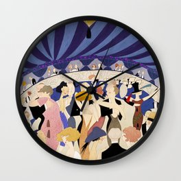 Dancing couples in jazz age nightclub Wall Clock