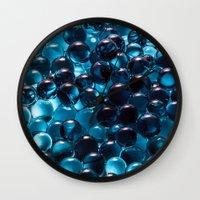 bubbles Wall Clocks featuring Bubbles by Kristina Jovanova