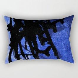 Blue Ink Lyrics Rectangular Pillow