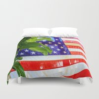 flag Duvet Covers featuring Flag by Jodi Kassowitz Photography