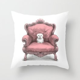 Know your place (in pink) Throw Pillow