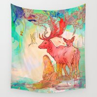archan nair Wall Tapestries featuring Rebirth by Archan Nair