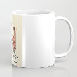 Happy Ghost Biking Through Amsterdam Coffee Mug