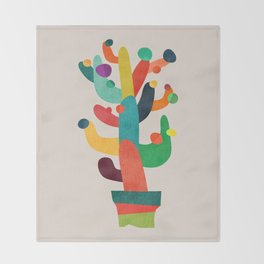 Whimsical Cactus Throw Blanket