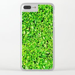 Texture of grass Clear iPhone Case