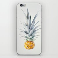 pineapple iPhone & iPod Skins featuring Pineapple by Ez Pudewa