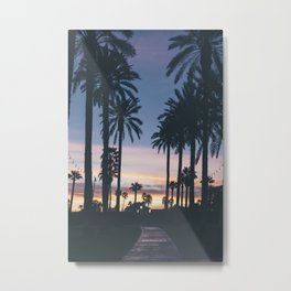 SUNRISE - SUNSET - PALM - TREES - NATURE - PHOTOGRAPHY Metal Print