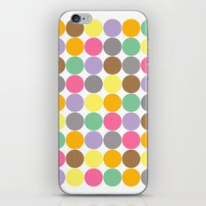 Candy Rounds White (Coal available too) iPhone & iPod Skin
