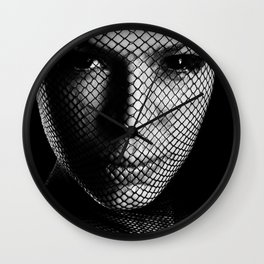 Face Lacemasked Wall Clock