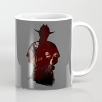 rick grimes Mugs featuring Bad Blood Rick Grimes The Walking Dead by Cursed Rose