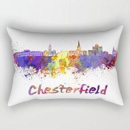 Chesterfield skyline in watercolor Rectangular Pillow