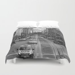 The Streets of San Francisco Duvet Cover