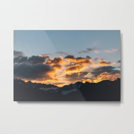 Alaskan Mountain Dawn VII Metal Print