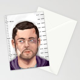 Mugshot Aaron Dingle Stationery Cards