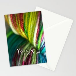 You Know i love you Stationery Cards