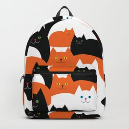 Cat Family on Halloween Backpack